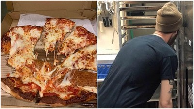 披薩摔爛店家接到「史上最溫柔客訴」:叫外送員去角落罰站就好