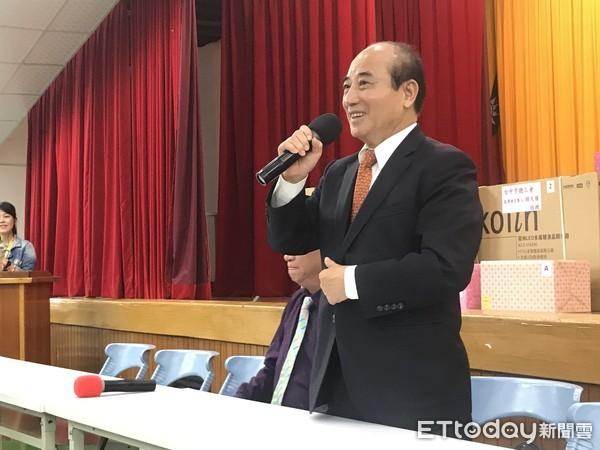 ▲▼前立法院長王金平出席台中市總工會新春團拜。(圖/記者李忠憲攝)
