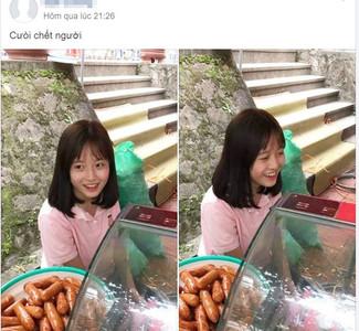 香腸妹「天使甜笑」擺攤爆紅!