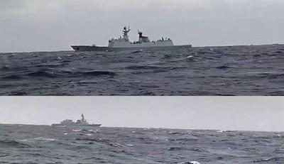 共軍054A與日驅逐艦對峙影像曝光