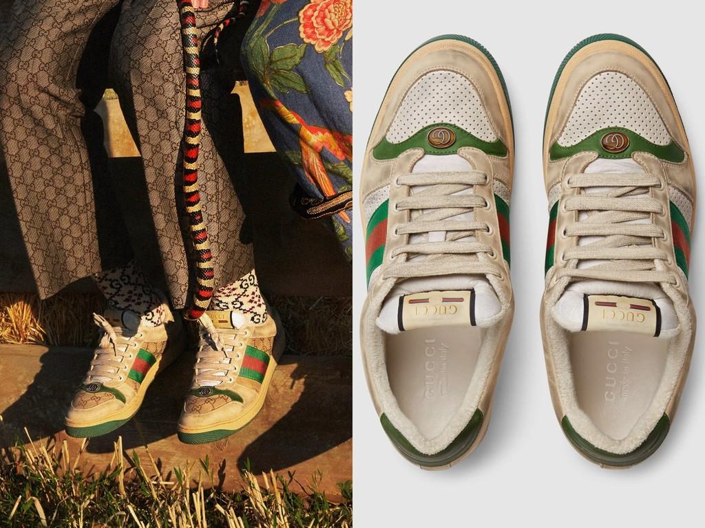 GUCCI「脏脏鞋」卖2万8 像穿10年的旧鞋竟比新鞋贵1万