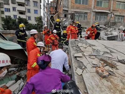 福建6層公寓大樓倒塌!至少7人受困