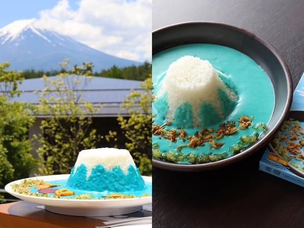 ▲富士山咖哩飯(圖/翻攝自富士山世界遺産センター FB)