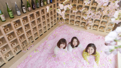 粉紅襲來!東京酒吧限定「櫻花浴」 灑滿120萬片浪漫櫻花瓣