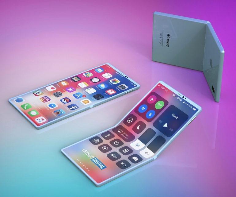 ▲▼荷蘭科技網站LetsGoDigital根據USPTO文件上的專利圖示,設計了蘋果首款可折螢幕iPhone的渲染圖。。(圖/取自LetsGoDigital)