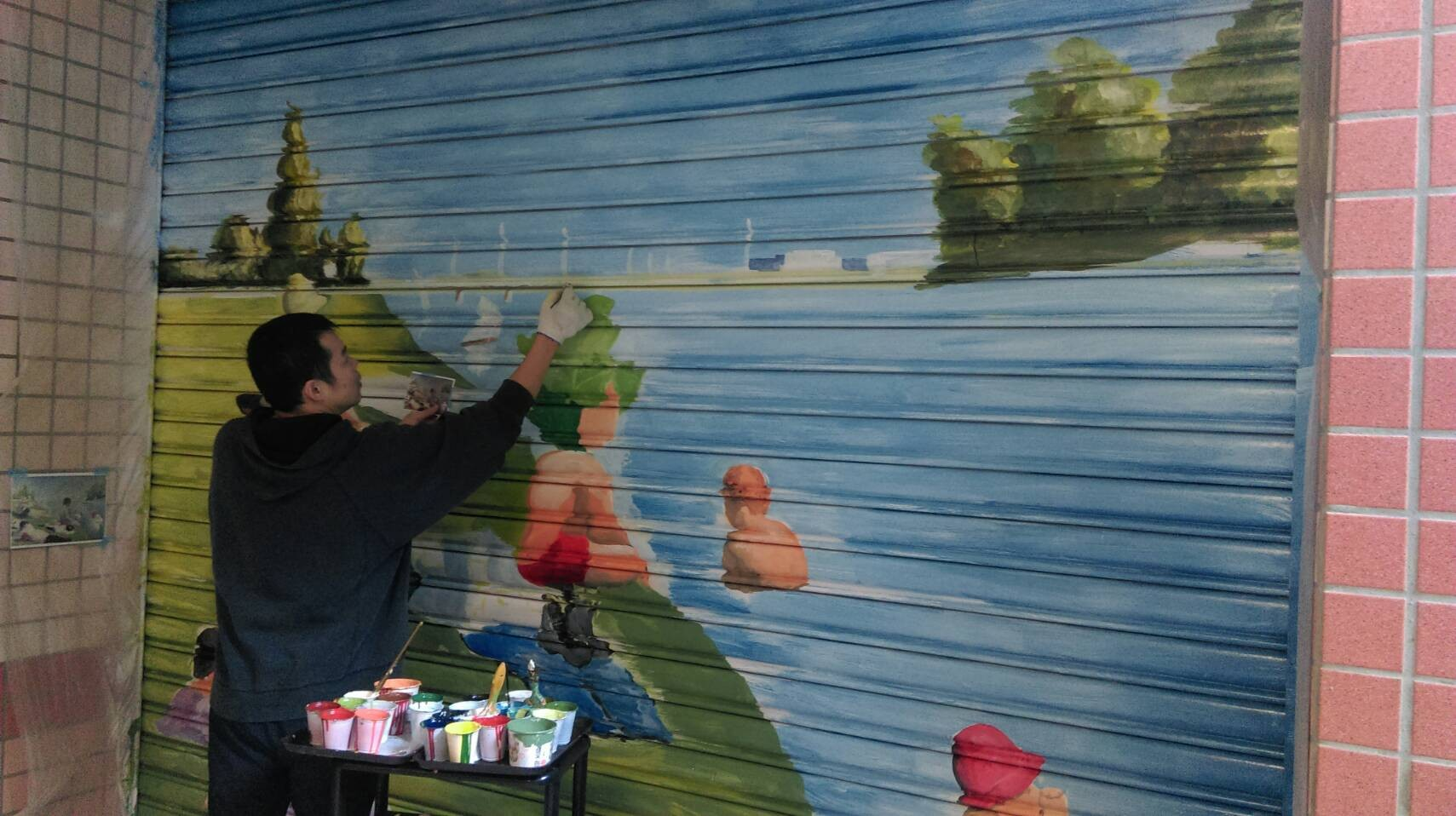 ▲▼壁畫師。(圖/小檸檬供稿專用)