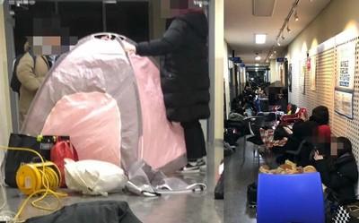 大學生搭帳篷睡地板「人工夜排」選課