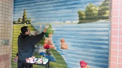 照出心中回憶!壁畫師被要求畫「淡水夕照」 老人哽咽:我在那長大