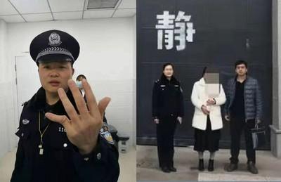 闖機車道被阻 暴力女折彎警察手指