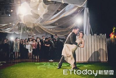 特力集團千金露天婚禮 「新人雨中熱舞」靠他拍