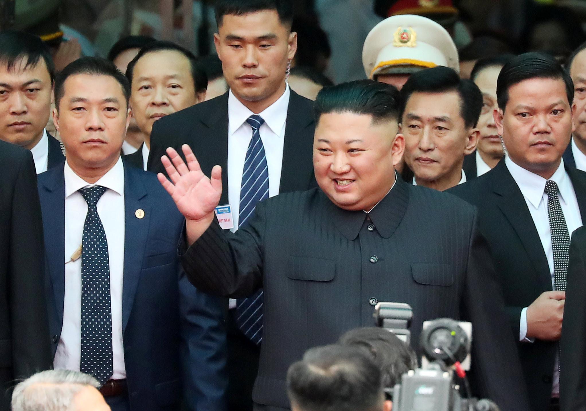 ▼ 北韓領導人金正恩抵越南。(圖/路透)