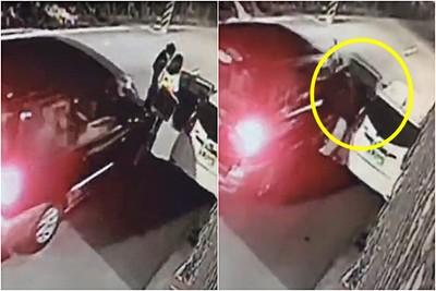 3秒輾倒!夫妻下車抱女童遭酒駕撞