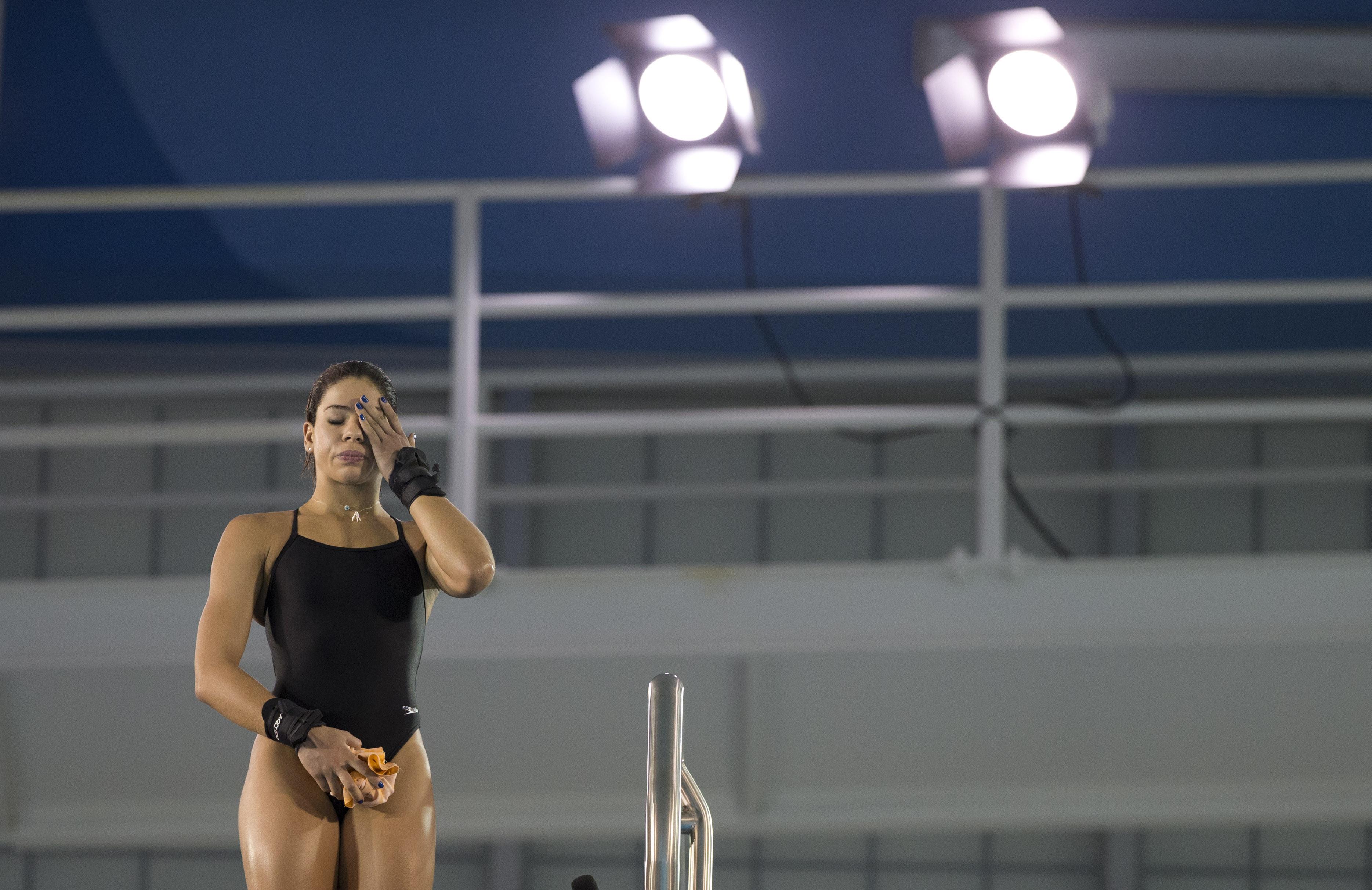 ▲▼巴西奧運跳水選手奧莉薇拉(Ingrid de Oliveira)。(圖/達志影像/美聯社)