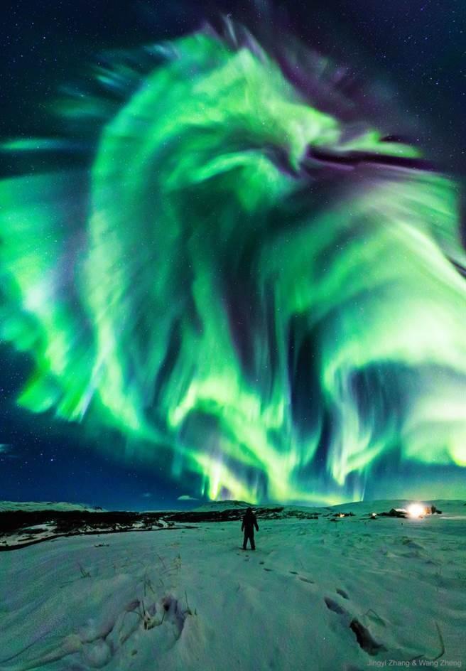 ▲▼冰島旅遊意外拍到「巨龍」極光,連NASA也好震驚。(圖/翻攝自NASA網站)