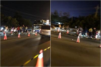 屏東燈會行人闖馬路 遭遊覽車撞上