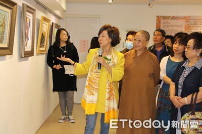 丁菱娟油畫展 南台別院法喜開幕