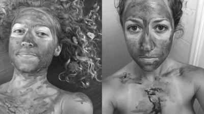 女子塗滿經血自拍 呼籲月經不髒不羞恥 網譏:何不塗OO在臉上