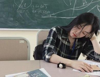 正妹數學老師瞌睡照美翻 網:想重修