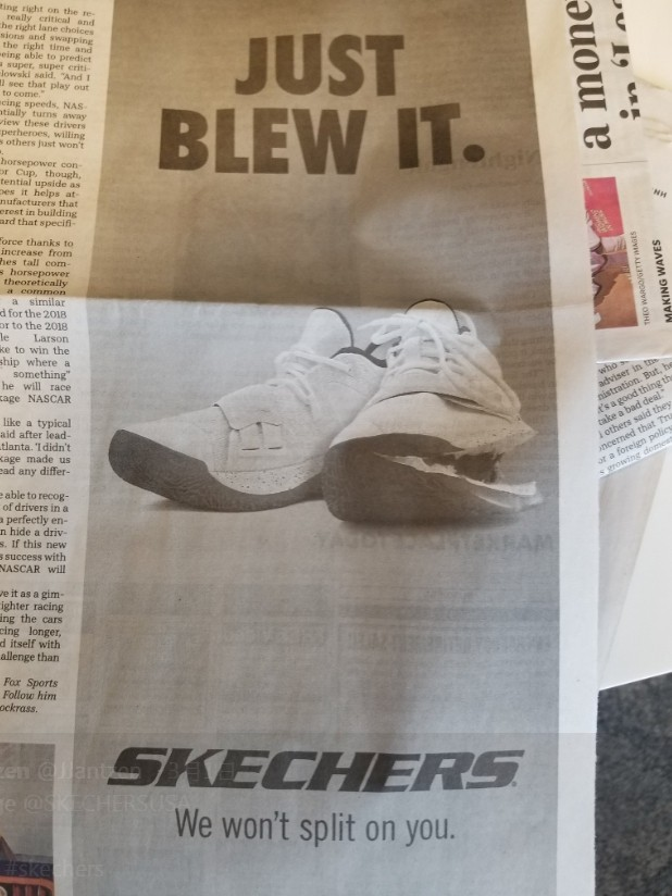 ▲Skechers vs Nike。(圖/翻攝自IG@bleacherreport、Twitter@itsDJMoore、@joefav、@JJantzen)