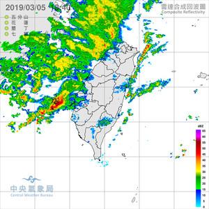 即/強對流移入!雷雨+強風炸雲嘉南