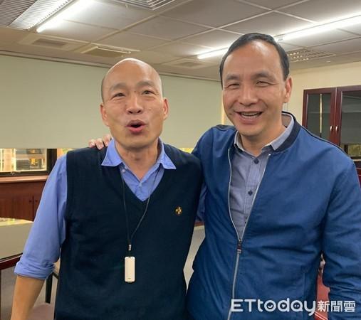 ▲朱立倫南下高雄拜訪韓國瑜。(圖/翻攝朱立倫臉書)