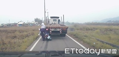 拖板車酒駕倒車撞警 兒:給一點空間