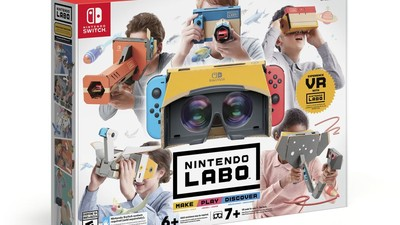Switch「VR套裝」4月發售!任天堂Labo VR亮相 台灣同步上架快搶啊