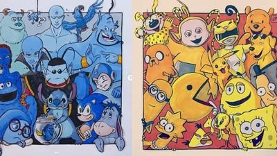 卡通人物「同色系」去站一塊! 老皮x海綿寶寶x小小兵破天荒同框