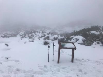 雪山飄雪美景曝光!積雪達50公分