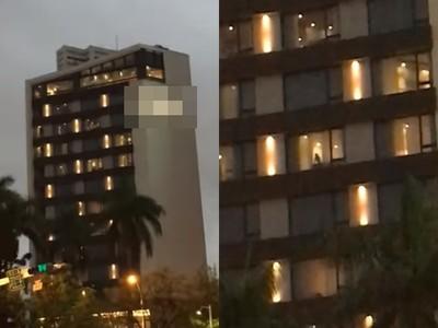 高雄飯店玻璃超乾!遠視妹拍9秒影片笑壞網