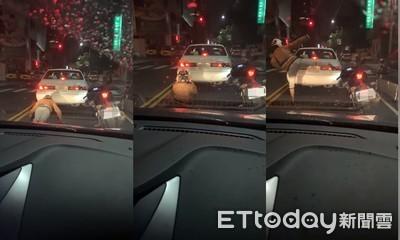 紅燈1分鐘!騎士下車「健身壓馬路」網笑瘋