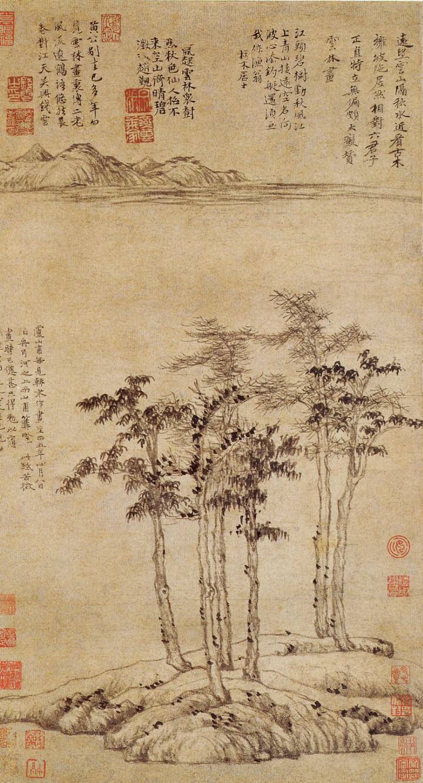 ▲倪瓚《六君子圖》。(圖/翻攝自維基百科)