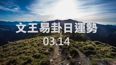 文王易卦【0314日運勢】求卦解先機