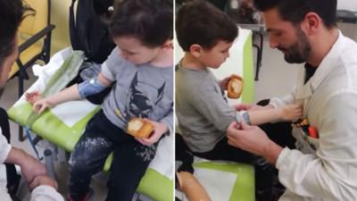 這隻手臂可以留給我嗎?小男孩裝義肢反應超萌 抓東西向媽咪炫耀