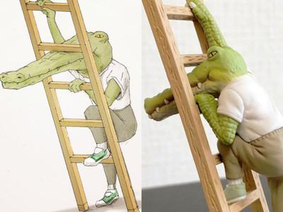插畫家keigo「鱷魚扭蛋」神還原