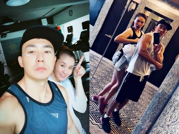 ▲▼劉畊宏過去常和老婆一起健身。(圖/翻攝自Facebook/劉畊宏)