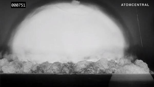 ▲▼人類首次三位一體核試驗,高畫質修復版影片曝光。(圖/翻攝自YouTube/atomcentral)