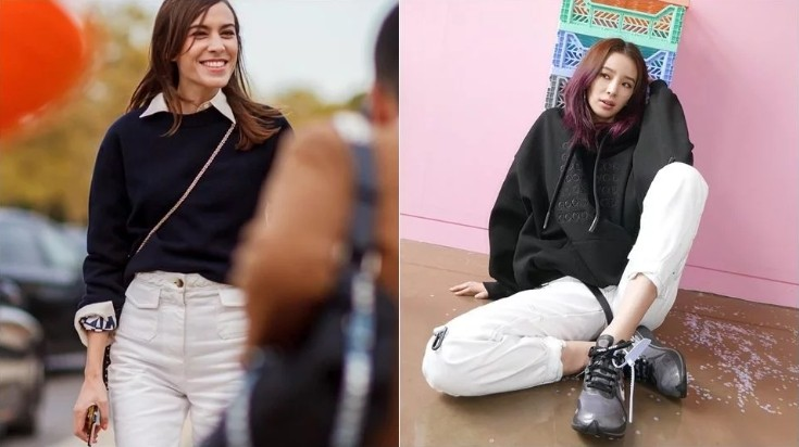 懂穿的人都买了!2019「米白色牛仔裤」最热门 两种裤型超修身