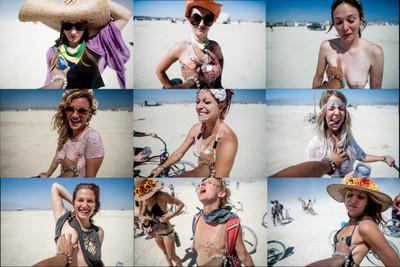攝影師在沙漠裡抓100位女性的乳房…
