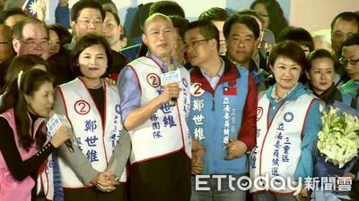 影/民眾拱選總統  韓國瑜笑:要進洞房花燭夜的是鄭世維!