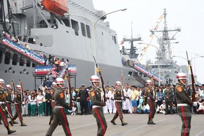 海軍敦睦支隊環島航訓首站抵高雄