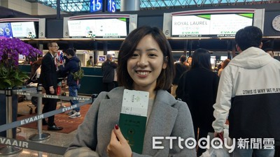 柯文哲啟程訪美 黃瀞瑩出差處女秀超興奮
