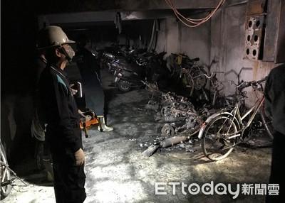 台南市東區公寓機車火警 15人嗆傷
