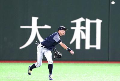 鈴木一朗大秀背後接球美技