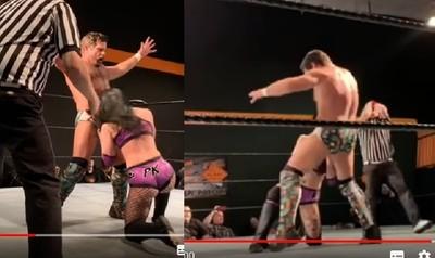 遭猛男弄暈 女摔角手「吐雞」反擊