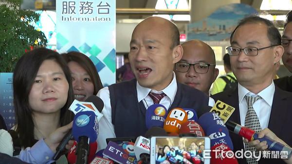 快訊/韓國瑜抵港會林鄭月娥 中聯辦、港府高層低調接機