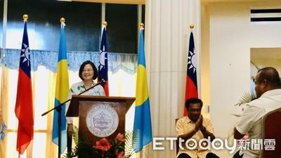 蔡英文與帛琉總統會談 敲定6月起每週增4直飛航班