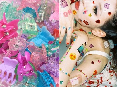 Dappei/春夏流行懷舊塑膠髮夾!