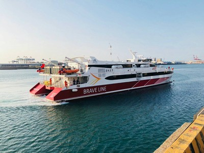 搶先試乘!百麗新船首航台中-馬公號