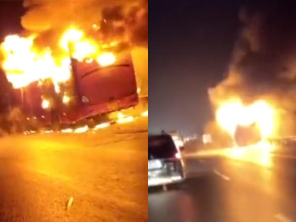快訊/湖南巴士高速公路「燒成火球」 至少10死多人送醫